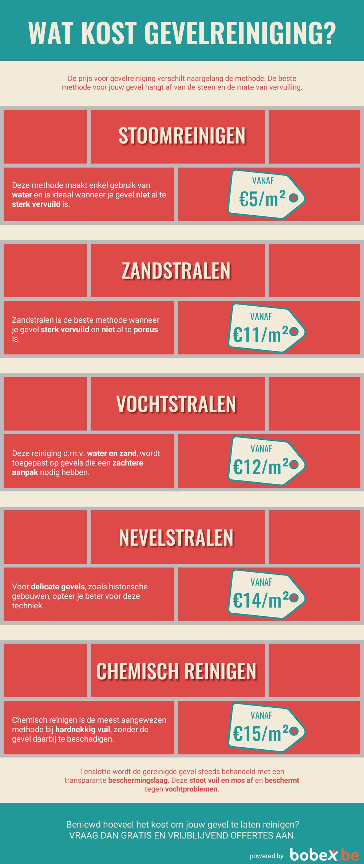 Gevelreiniging infographic